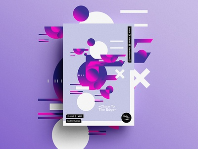 Made You Look👁 257 | –Close To The Edge– pantone motivation design color typography swiss positive 2018 poster postereveryday beautiful