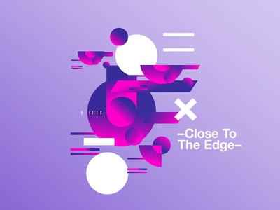 –Close To The Edge– beautiful postereveryday poster 2018 positive swiss typography color design motivation pantone