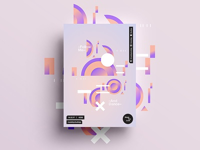 👁Made You Look👁 258 | –Follow Me. And Dance– beautiful postereveryday poster 2018 positive swiss typography color design motivation pantone