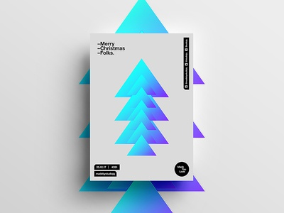 👁Made You Look👁 261 | Merry Christmas Folks. christmas motivation design color typography swiss positive 2018 poster postereveryday beautiful