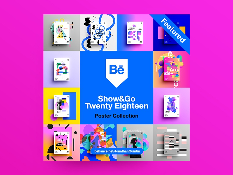👁Show & Go👁 | Featured. abstract branding motivation design color typography swiss positive 2018 poster