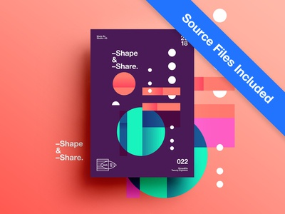👁Show & Go👁 022 | Shape & Share space poster 2018 positive swiss typography color design motivation branding abstract