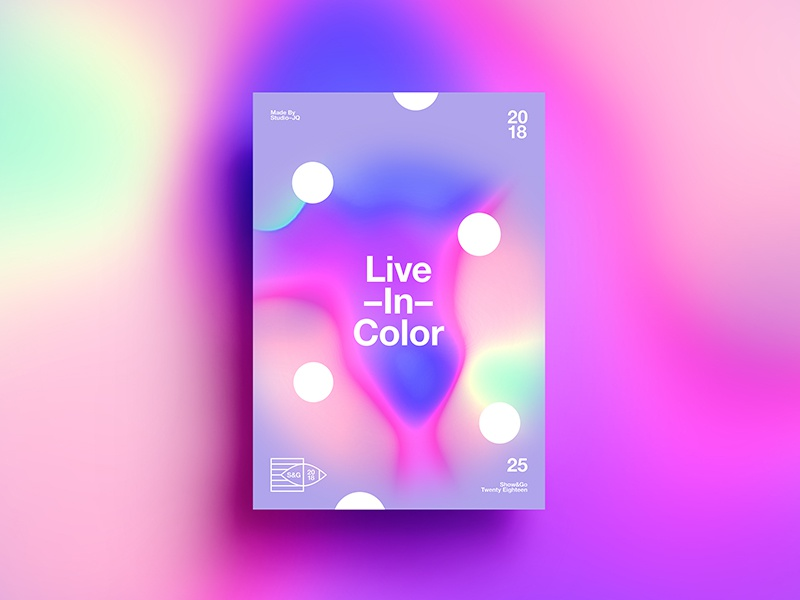 👁Show & Go👁 025 | Live In Color | Option II color poster 2018 3d swiss typography design tutorial branding abstract