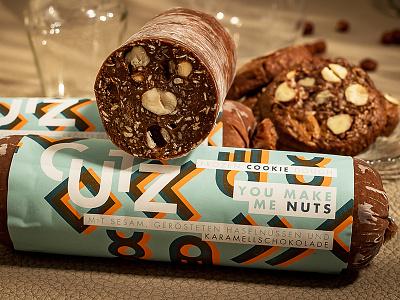 You Make Me Nuts logo austria packaging branding cookie logos pattern