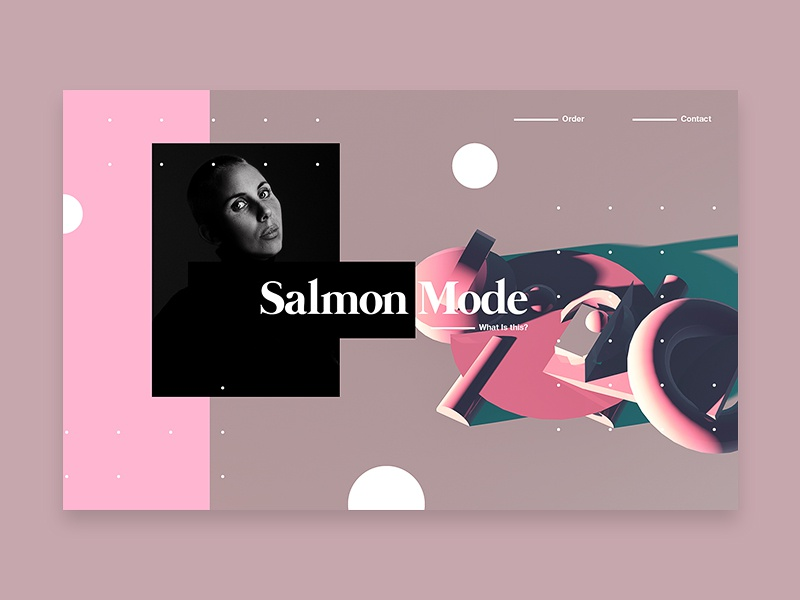 Salmon Mode c4d branding tutorial design typography web 3d 2018 ui color