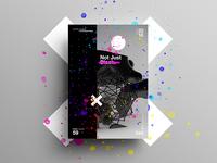 Not Just Black. girl c4d branding tutorial design typography swiss 3d 2018 poster color