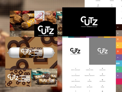 From Concept To Reality   CUTZ austria shop packaging brand branding icons cookie dough chocolate