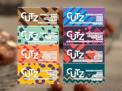CUTZ Labels austria shop packaging brand branding icons cookie dough chocolate