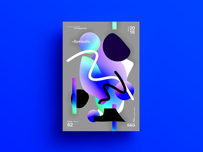 –Symbolic. color 2018 3d swiss typography adobe design tutorial branding poster abstract gradient