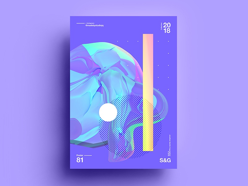 Glow color 2d 2018 art pattern typography design tutorial branding c4d digitalart abstract