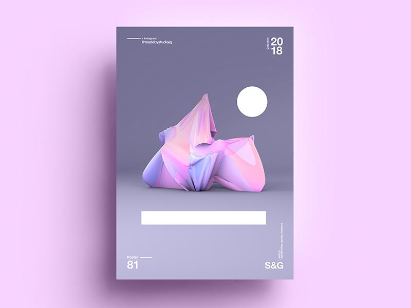 Beach & Ice Cream abstract digitalart c4d branding tutorial design typography pattern art 2018 2d color