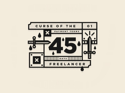 Curse Of The Freelancer studio designer illustration type freelancing freelance logo