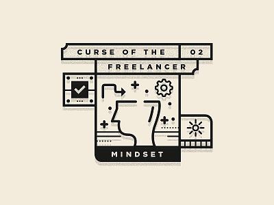 Curse Of The Freelancer logo freelance branding freelancing type illustration designer studio