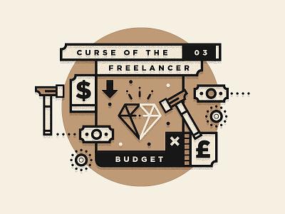 Curse Of The Freelancer | Budget studio designer illustration type freelancing branding freelance logo