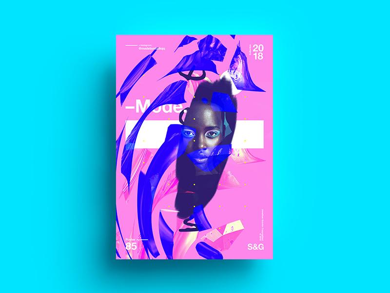 Mode. fashion abstract digitalart c4d branding tutorial design typography art 2018 type color