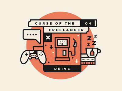 Curse Of The Freelancer | Drive logo freelance branding freelancing type illustration designer studio