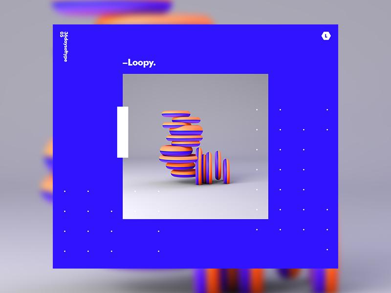 L | 36DaysOfType color 36daysoftype 2018 3d gradient typography design tutorial c4d