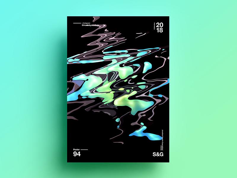 Wave-Goo. abstract gradient color type 2018 typography design tutorial art digitalart