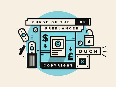 Curse Of The Freelancer | Copyright studio designer illustration type freelancing branding freelance logo