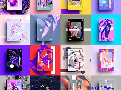 Show & Go | Month 4 abstract gradient color type 2018 typography design tutorial art digitalart