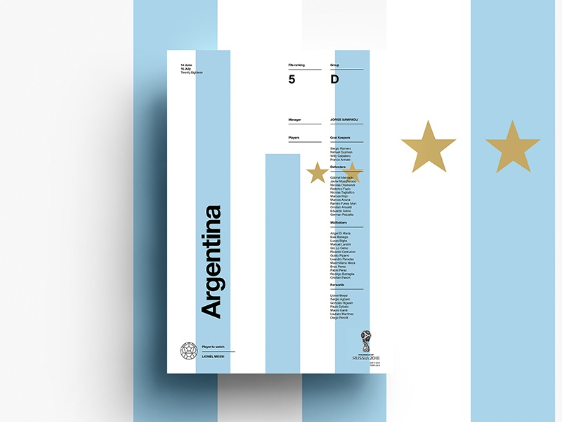 Worldcup2018 argentina 2d dribbble