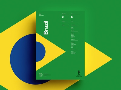 2018 FIFA World Cup Retro Posters | Brazil