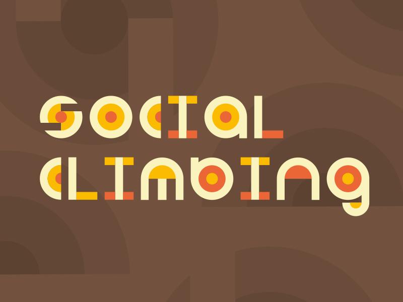 Social Climbing Identity retro color development adobe logomark logo brand branding symbols illustration