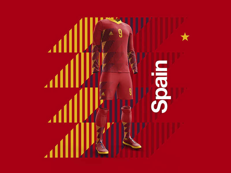 2018 FIFA World Cup Retro Kits | Spain worldcup layout spain soccer footballkit posters kit football worldcup2018 de gea