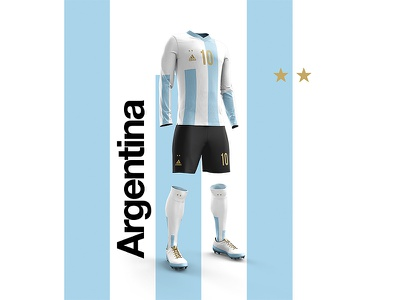 2018 FIFA World Cup Retro Kits | Argentina messi worldcup2018 football kit posters footballkit soccer argentina layout worldcup