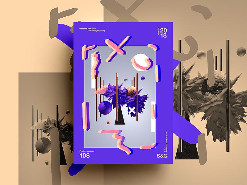 Golden Spin swiss digitalart art tutorial design typography 2018 type color gradient abstract