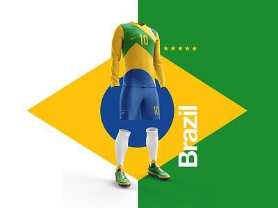 2018 FIFA World Cup Retro Kits   Brazil worldcup layout brazil soccer footballkit posters kit football worldcup2018 neymar