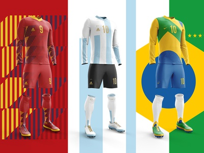 2018 FIFA World Cup Retro Kits argentina worldcup2018 football kit posters footballkit soccer brazil spain worldcup