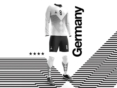 2018 FIFA World Cup Retro Kits | Germany worldcup2018 football kit posters footballkit soccer germany layout worldcup