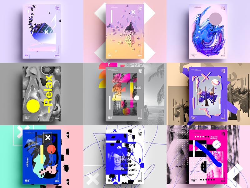 Show & Go | Month 5 swiss digitalart art tutorial design typography 2018 type color gradient abstract