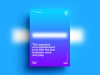 Accomplish. abstract gradient color type 2018 typography design tutorial art swiss digitalart