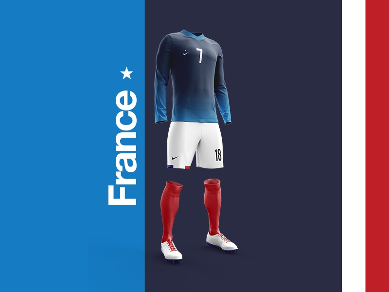 huge discount ccda3 d31f4 2018 FIFA World Cup Retro Kits | France by MadeByStudioJQ on ...