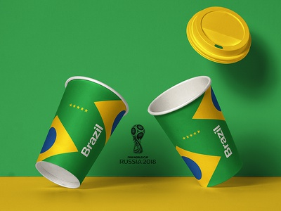 2018 FIFA World Cup Retro Cups   🇧🇷 Brazil 🇧🇷 packaging worldcup layout brazil soccer footballkit posters kit football worldcup2018