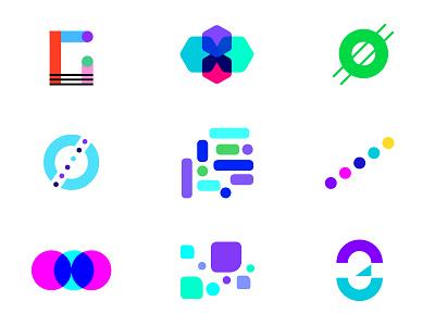 Logos color development adobe logomark logo brand branding symbols illustration