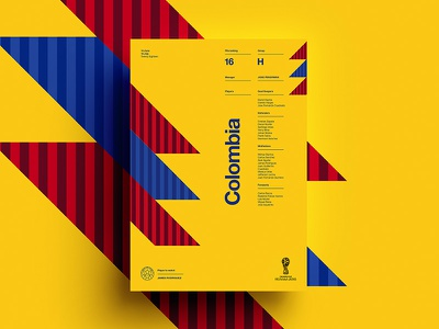 2018 FIFA World Cup Retro Posters   Colombia worldcup layout colombia soccer print posters poster football worldcup2018