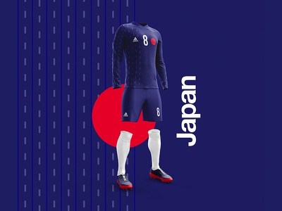 2018 FIFA World Cup Retro Kits   Japan 🇯🇵 worldcup layout japan soccer print posters poster football worldcup2018