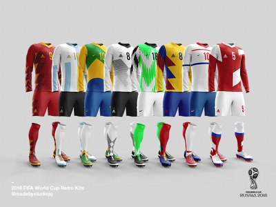 2018 FIFA World Cup Retro Kits worldcup2018 football poster posters print soccer layout worldcup