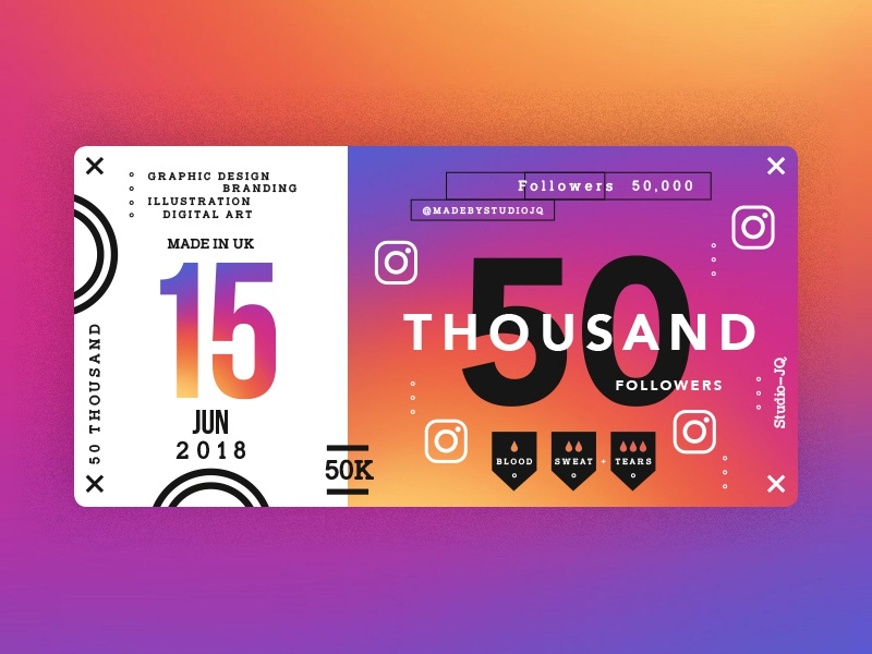 Studiojq2018 june2018 dribbble instagram 50k