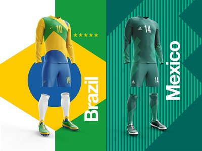 Brazil V Mexico worldcup layout soccer print posters poster football worldcup2018