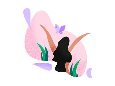 Sacred sacred lady pink illustrator illustration