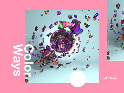 Colorways c4d tutorial design typography fantasy 3d 2018 gold color