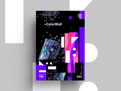 –ColorWall digit art tutorial design typography 2018 type color sweets abstract swissskillshare gradient