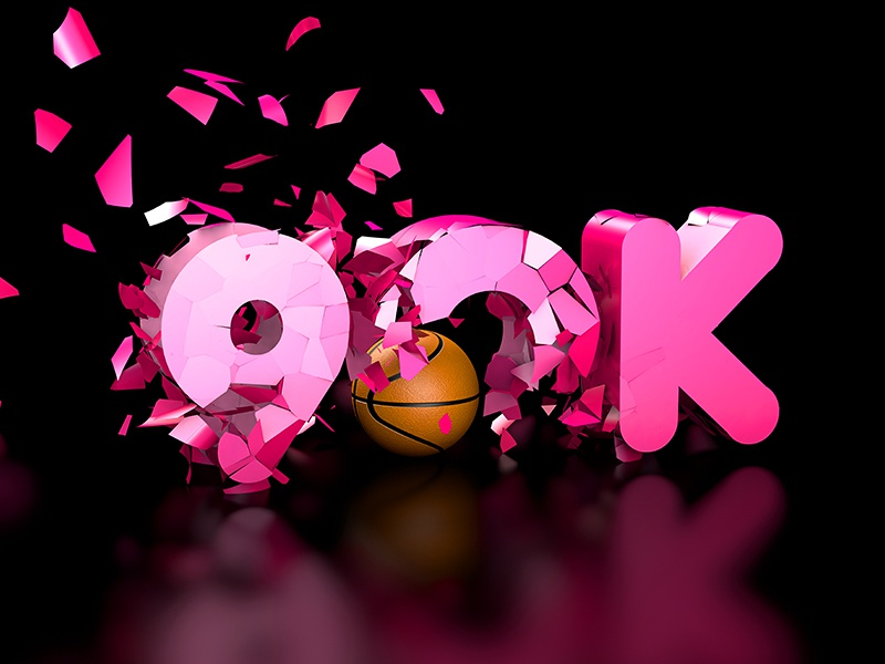 90,000 Followers | Graphic studiojq quintin dribbble ticket thankyou cinema4d basketball c4d type 90k