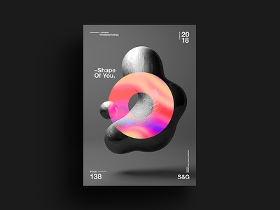 -Shape Of You. digit art tutorial design typography 2018 type color abstract gradient swiss skillshare