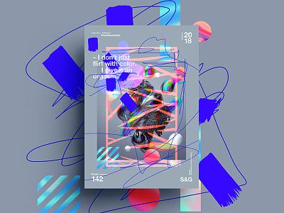 –Flirt. digit art tutorial design typography 2018 type color abstract gradient swiss skillshare