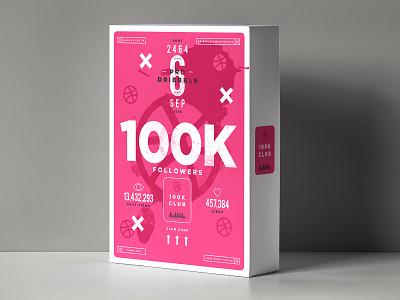 100,000 Followers pink happy studiojq type support thankyou followers dribbble
